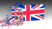 educação : 3D Jobs word chipped out of a UK flag