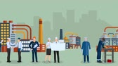 industry : Factory workers video animation footage