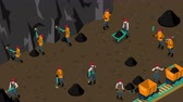 kohle : Arbeiten in Material Mine Video-Animation