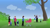 Parenthood family video animation footage Stock Footage
