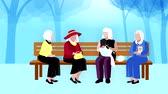 örgü : Old people outdoors video animation footage