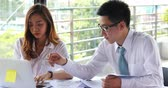 администратор : asian business man and woman busy working team consult planing in smart office