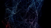 geométrico : Abstract blue structure background with triangles and network. Stock Footage