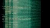 grid : Camera move through pieces of software source code Stock Footage