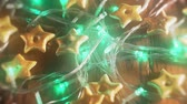 dourado : Holiday lights background video