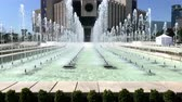 hala : SOFIA, BULGARIA - MAY 29, 2018: Fountains in front of the National Palace of Culture (NDK) building, the largest multifunctional conference and exhibition centre in south-eastern Europe located in Sofia, Bulgaria