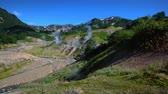 deprem : Valley of Geysers. Tourist season in Kamchatka Peninsula. Kronotsky Nature Reserve. The summer stock footage video