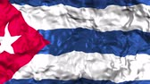 csillag : Flag of Cuba waving in the wind