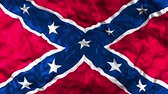 sivil : The Confederate Flag of the thirteen Confederate states Of America used during the American Civil War, which is often known as the Battle Flag Stok Video