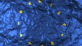csillag : Closeup of European Union flag waving in the wind