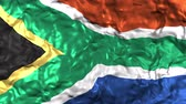 no idea : South Africa flag blowing in the wind Stock Footage