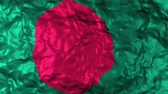 yerleri : Bangladesh flag waving with the wind