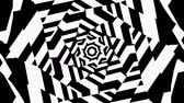 hypnotist : Black and White Wavy Lines Intersect in the Center. The Visual Illusion Of Movement. Hypnotic illusion seamless loop