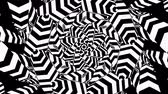 hypnotist : Radial, radiating lines with wavy, zigzag distortion. Hypnotic illusion loop Stock Footage