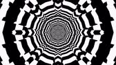 昔ながら : Abstract seamless tunnel motion background. Hypnotic illusion loop 動画素材