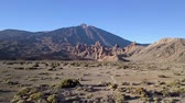 canárias : Beautiful Mountain landscape, Teide volcano view, drone shot along the wild in Canary Islands