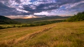 naproti : Clouds in evening sky over rural landscape 4K Time Lapse