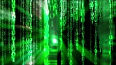 futuristic : Binary code Stock Footage