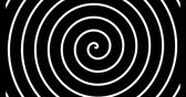 fordulat : Black and white spiral looping animation Stock mozgókép