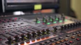 stereo : Management console light show. Stock Footage