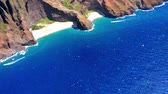 marlborough : Aerial view of the Napali coast, Kauai, Hawaii