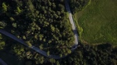 no people : Aerial, Europe, Italy, adventure, drive, driving, drone, flying, forest, landscape, mountain, mountains, nature, panoramic, park, road, road trip, street, sun, sunshine, tourist, touristic, transport, travel, traveling , trees, vehicle, woods, pine wood,  Stock Footage