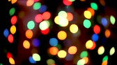 christmas bokeh light abstract holiday background. Defocused ligths of Christmas tree