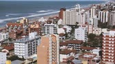 apartment buildings : Villa Gesell City, Buenos Aires Province, Argentina. Stock Footage