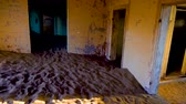 namib desert : Panning in the interior of an abandoned house in Kolmanskop ghost town in Namibia, Africa.