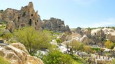 open air museum : Goreme, Turkey - APRIL 16, 2018: Crowd of people in Open Air Museum, Cappadocia, Turkey