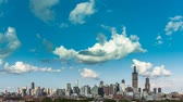 landscape : Chicago Skyline City Time lapse with cloud Dynamic