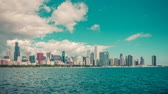 počasí : City of Chicago Time Lapse with Lake Michigan and cloud Dynamic