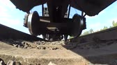 sleepers : train from below. POV, point of view with low angle view