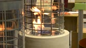 firebrand : One Biofireplace burn on ethanol gas close-up. Contemporary mount biofuel on ethanol fireplot fireplace. Modern ecological technologies. Interior design of a house inside Stock Footage