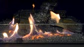 firebrand : One Biofireplace burn on ethanol gas. Contemporary mount biofuel on ethanol fireplot fireplace close-up. Decorated bio fireplace. Modern smart ecological technologies.