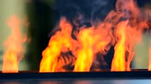 firebrand : Electric fireplaces with built-in evaporator converts water into steam, which simulates smoke close-up. Model with 3D effect. Modern smart ecological alternative technologies. Energy saving innovation