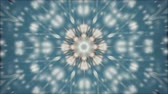 falling stars : Abstract kaleidoscope motion background. Sequence multicolored graphics ornaments patterns. Blue white, Christmas New Year lace motifs sequins, falling snow. Seamless loop. Looping structure backdrop Stock Footage
