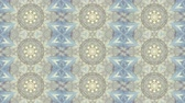 koronka : Abstract kaleidoscope motion background. Sequence multicolored graphics ornaments patterns. Blue white, Christmas New Year lace motifs sequins, falling snow. Seamless loop. Looping structure backdrop Wideo