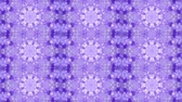 trans : Abstract kaleidoscope motion background. Sequence multicolored graphics ornaments patterns. Purple white, Christmas New Year lace motifs sequins, falling snow. Seamless loop. Winter Light backdrop.