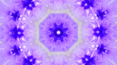 surrealizm : Abstract animated kaleidoscope motion background. Spreading Purple Ink Drops on White Wet Smooth Surface. Sequence graphics ornaments patterns. Abstract Close-up Shot.