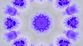 сюрреализм : Abstract animated kaleidoscope motion background. Spreading Purple Ink Drops on White Wet Smooth Surface. Sequence graphics ornaments patterns. Abstract Close-up Shot.