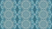 Abstract animated kaleidoscope motion background. Sequence multicolored graphics ornaments patterns. Bright luminous light backdrop. Soft blue and white seamless loop background. Looping backdrop Wideo