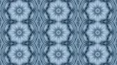 surrealizm : Abstract animated kaleidoscope motion background. Sequence graphics ornaments patterns. White blue structure motifs sequins. Bright impulsively luminous light backdrop. Seamless loop background Wideo