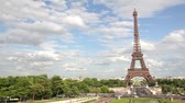tower : Eiffel Tower, Paris, France, Europe. View of the famous travel and tourism icon at daytime in summer  spring with blue sky,