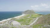 landscape : St. Kitts nature landscape. Scenic view at St. Kitts and Nevis. Caribbean cruise ship destination.