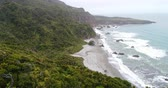 pântano : New Zealand aerial drone footage of nature landscape on West Coast Region of South Island, New Zealand.