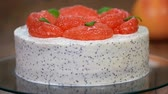citrus fruit recipes : Homemade cake with grapefruit