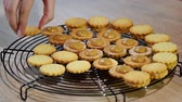 biscoitos : Making dulce de leche cookies. Cooking process