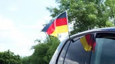 Germany flag on a car