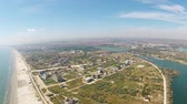 Navodari is a city located on the Black Sea coast, Romania, an important industrial hub with strong real estate development in recent years , aerial view